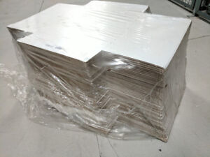 Records Boxes 100/Bundle    12 1/2 x 12 1/2 White Easy Fold Mail
