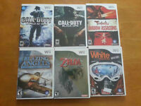 Various Nintendo Wii Games and Accessories
