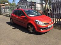 55 plate Renault Clio 1.4 petrol, orange 3 door **motd till August 2017**