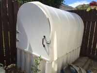 Small poly shed with door