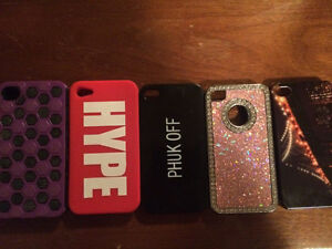 5 iPhone 4 cases barely used