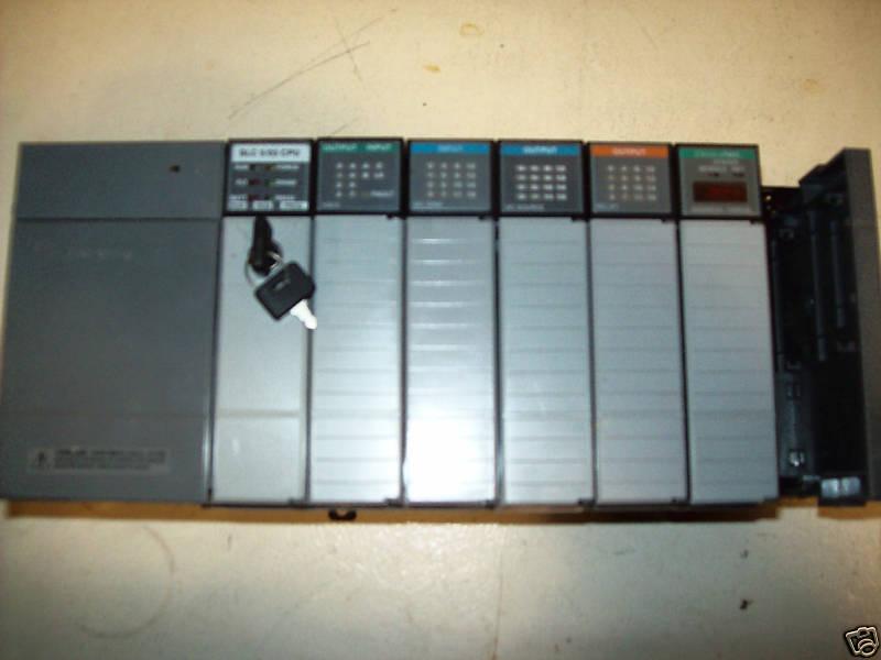 ALLEN BRADLEY SLC 500 PLC, RACK, MODULES, COMPLETE!