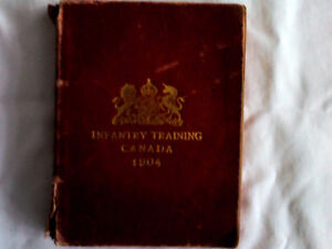 """Vintage book: """"Infantry Training Canada 1904"""""""