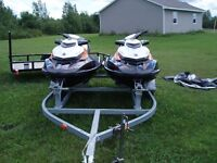 2 Sea-Doos and trailer, 2013,2014 gtr215's Financing Available