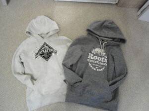 Practically New Roots & Beaver Canoe Hoodies XS $50 for Both