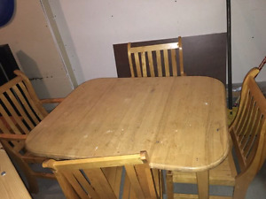 Handcrafted kitchen table