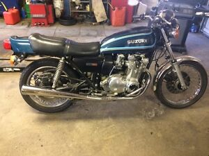 1977 Suzuki GS750. Get er on the road for spring.