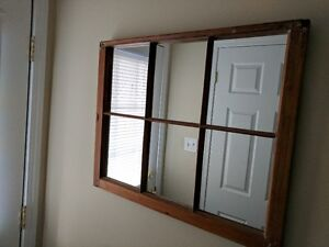 Beautiful mirror in 100 years old antique window frame