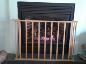 Fireplace safety barrier