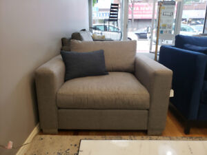 """Super Comfy, Oversized Chair (45""""w) With Feather Wrapped Seat."""