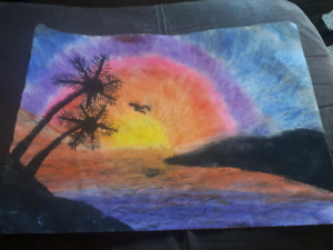 Sunset pastel picture