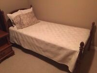Antique style bed, mattress & boxspring