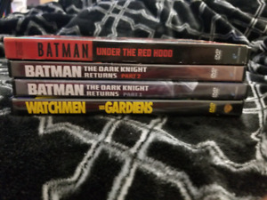 DC movies for sale (Batman and Watchmen)