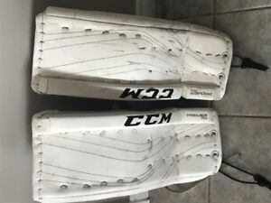 Used for one season CCM Lefevre 24+1  premier R1.5 goalie pads