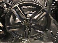 "Set of 4 19"" alloy wheels alloys rims Audi seat skoda Vw Volkswagen 5x112"