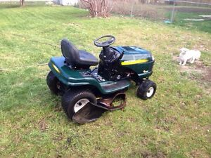 Trade Riding Mower for Fishing boat, motor and trailer
