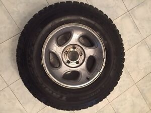 4 Radial studded winter tires on rims