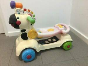 VTech 3-in-1 Zebra scooter (push, sit and ride, or scoot)