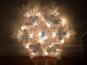 Christmas Snowflake silhouette for window or wall