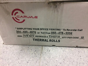 Thermal Rolls, for Till Machines or Calculators