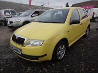 SKODA FABIA 1.2 HTP 54 CLASSIC~04/2004~04/2004~5 DOOR HATCHBACK~BRIGHT YELLOW