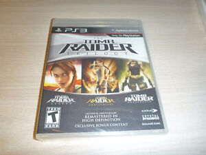Tomb Raider Trilogy(sealed) and Uncharted: Drake's Fortune