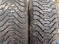4 AS NEW 195 70 14 GOOD YEAR NORDIC TIRES