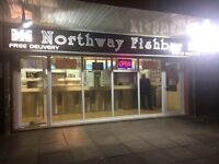Fish and chips takeaway for sale, short working hours, good takings