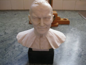 Vintage Pope Paul II Alabaster Sculpture by A. Santini