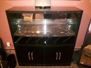 PRICE REDUCED  TO $400 GRANITE top liquor and wine cabinet
