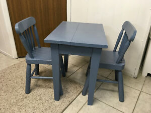 Kids' Table and Chairs - Solid Wood
