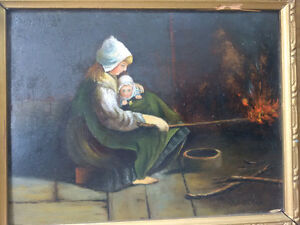 Mother by the Fire by C. A. Blinn Kitchener / Waterloo Kitchener Area image 1