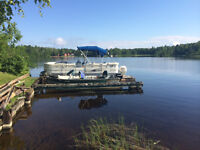 23' Lowe Pontoon boat & trailer for sale
