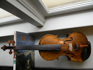 Antique Nicolaus Amati violin with one piece back 4/4 size