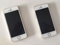 2 Apple iphones 5S - 16 GB Gold for Sale on Fido and Rogers