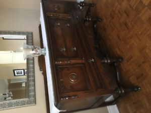 Antique Walnut Dinning Room Set