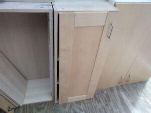 Pine Cabinet 16 x 39 x 12' 1 door, 3 shelves