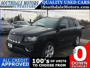 2016 JEEP COMPASS AWD * LEATHER * SUNROOF * POWER GROUP * LOW KM