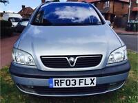 2003 Vauxhall Zafira 1.8 i 16v Elegance 5dr