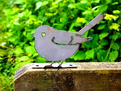 Cut Metal Rusty Chickadee Bird Garden Home Yard Lawn Art Outdoor Window Decor
