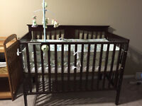 Crib, Change station, Bassinet, Feeding cushion, and more
