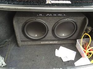 "2 12"" jl audio w3 with jl1000 amp"
