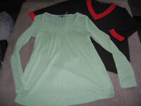 Long-sleeved maternity tops - size L/XL