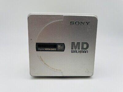 MD1987 working  SONY Portable MiniDisc Player BASS MZ-E35 MD WALKMAN  Silver