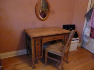 Antique Oak Desk Set