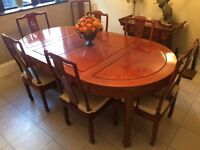 Chinese Rosewood Dining Table & Chairs