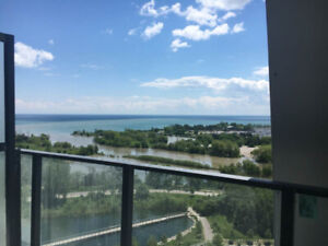 $2,100/M, Lakefront Unobstructed Views, 1Br+1P+Locker & Balcony