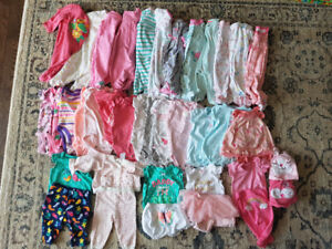 Excellent condition newborn size girl clothing lot