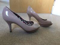 Next nude platform shoes size 4 1/2