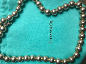 Authentic Tiffany and Co. Classic Sterling Silver 10mm Bead Ball